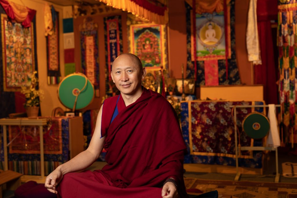 Geshe La, Our resident Lama and Founder of Sherab Chamma Ling