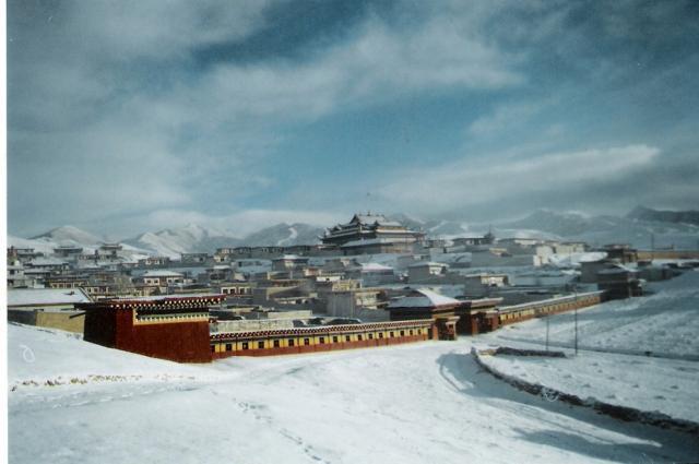 winter nangzhig monastery amdo tibet